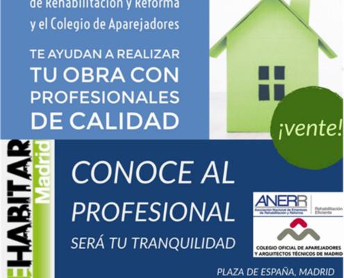ANERR y el Colegio de Aparejadores de Madrid en Rehabitar Madrid