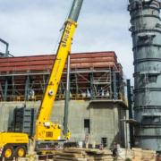 La primera Grove GMK6400 de Bolivia ya participa en proyectos de construcción en todo el país