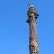 RAUGEO PE-100 duo en el monumento a Cristóbal Colón de Barcelona