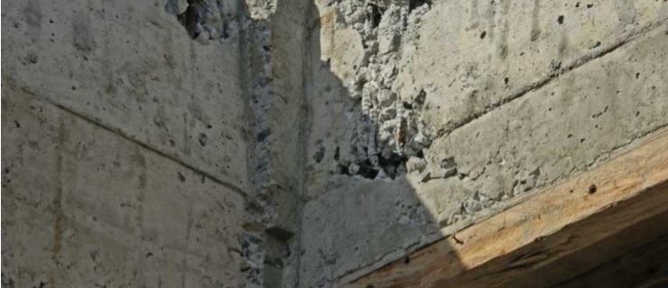 Reparación de coqueras al desencofrar el hormigón
