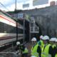 De la Serna supervisa los trabajos de ampliación de gálibo del túnel de Gaintxurizketa