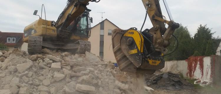 La gama de MB Crusher destinada a obras urbanas