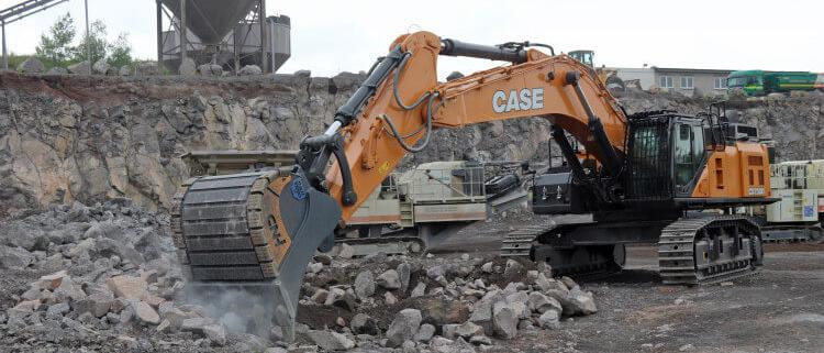 CX750D: productividad y fiabilidad en las canteras de basalto de Alemania