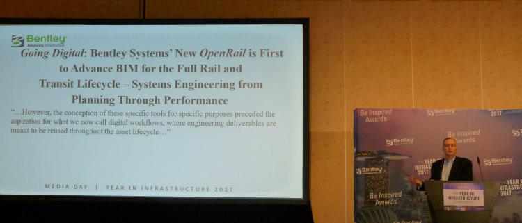 Nuevo OpenRail de Bentley Systems: pionero en acelerar el uso de BIM durante todo el ciclo de vida de vías ferroviarias y de tránsito