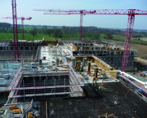Encofrados ULMA en el proyecto de construcción de la clínica Schaumburg
