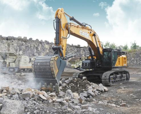 CASE presenta la nueva excavadora CX750D para una productividad líder en su categoría y tiempos de servicio máximos