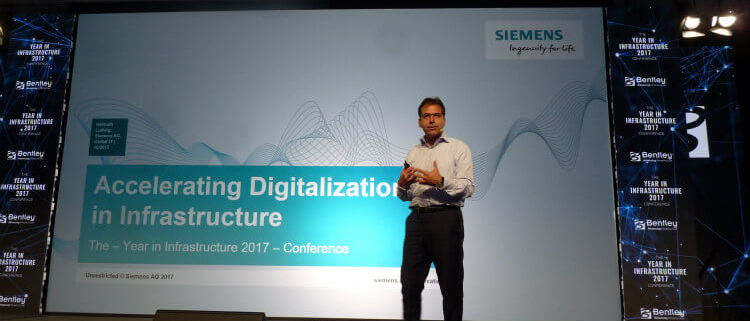 Proyectos de desarrollo de Bentley Systems y Siemens en Year in Infrastructure 2017