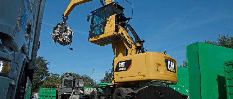 Manipuladoras de Materiales CAT MH3022 y MH3024 excepcionales para cualquier trabajo de movimiento de materiales