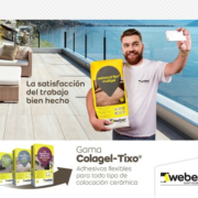 Weber lanza una nueva generación de adhesivos flexibles Colagel-Tixo