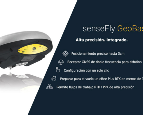 El equipo GNSS plug-and-play senseFly Geobase