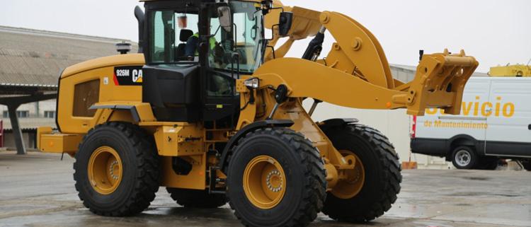 Barloworld Finanzauto celebra el 25 Aniversario de la pala de ruedas Cat 938M