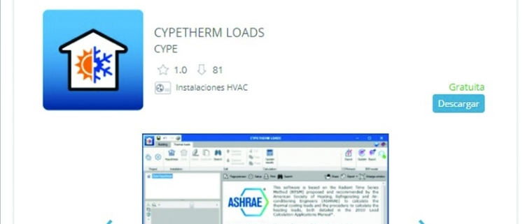 La plataforma digital BIMserver.center integra el software CYPETHERM LOADS