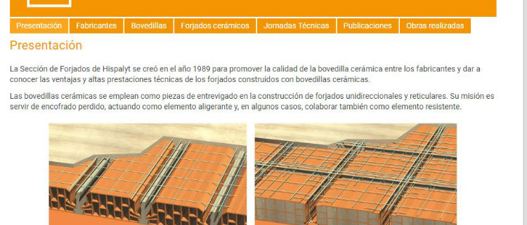 Hispalyt lanza web con las ventajas de los forjados cerámicos
