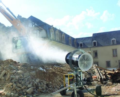 Los cañones SPRAYSTREAM eliminan la mayor cantidad de polvo usando el mínimo de agua
