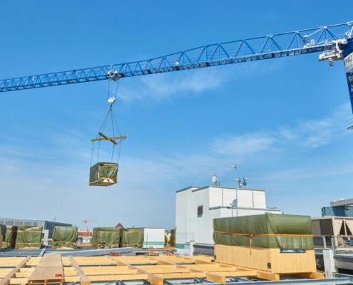 Linden Comansa y BKL construyen un edificio modular sobre una azotea de Berlín