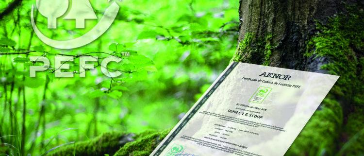 ULMA obtiene el certificado PEFC por su compromiso con el medio ambiente