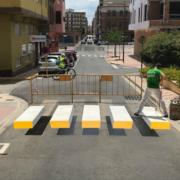 Pasos de peatones 3D termofusibles de TECNOL en Almussafes (Valencia)