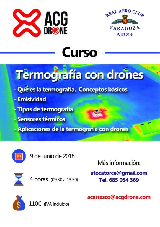 Curso sobre termografía aérea con drones de ACG DRONE