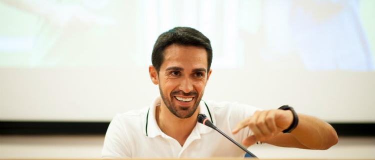 Alberto Contador, invitado estrella de la VIII convención del Mapei Sport