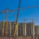 Seis grúas Manitowoc en la construcción de la villa para los Juegos Panamericanos de 2019
