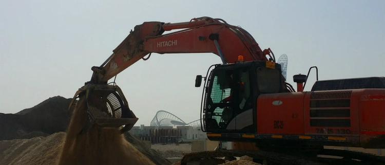 MB Crusher trabaja para la Copa del Mundo 2022 en Qatar