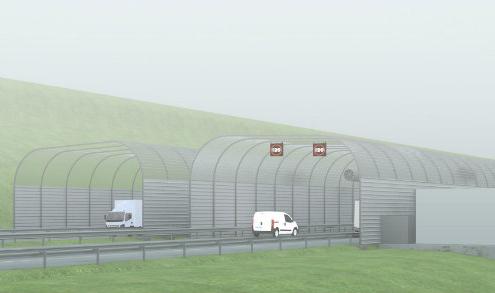 Prototipo antiniebla para el tramo conflictivo de la autovía del Cantábrico