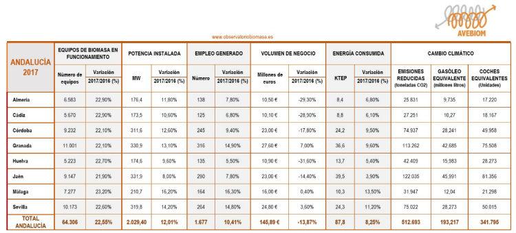 Andalucía es la comunidad líder en el uso de la biomasa de calefacción