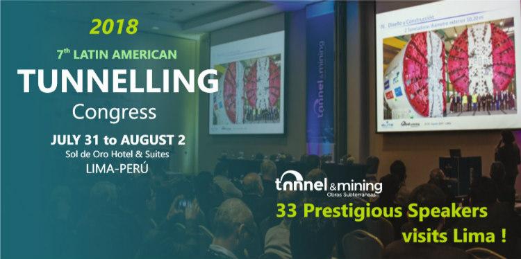 7° Congreso Latinoamericano de Túneles, Tunnel&Mining 2018