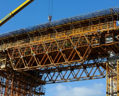 ULMA participa en la construcción del New Ross, el puente extradosado más largo del mundo
