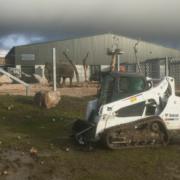 Nueva cargadora de orugas Bobcat para el Project Elephant en un zoo británico
