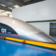 Primera cápsula en tamaño real de Hyperloop Transportation Technologies