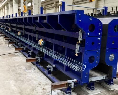 Líneas de fabricación de vigas pretensadas en Eslovaquia