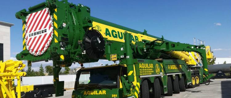 Grúas Aguilar adquiere siete grúas Liebherr nuevas