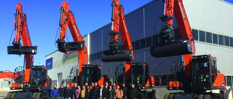 Centrocar y Doosan suministran nuevos equipos a Tragsa