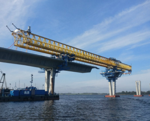 Finaliza la subestructura del Puente sobre el Fiordo de Roskilde, en Dinamarca