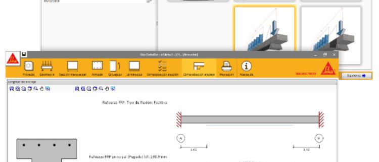 CYPE incorpora nuevas normativas al SIKA CarboDur Design Software