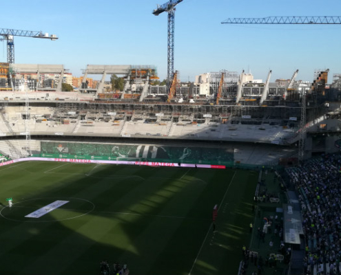 ULMA participa en la construcción de la nueva grada sur del Estadio Benito Villamarín
