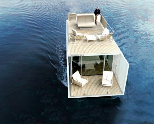 El vidrio Guardian Glass en el alojamiento flotante Punta de Mar