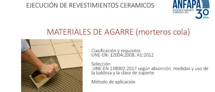 Jornada sobre la nueva normativa de colocación de baldosas cerámicas