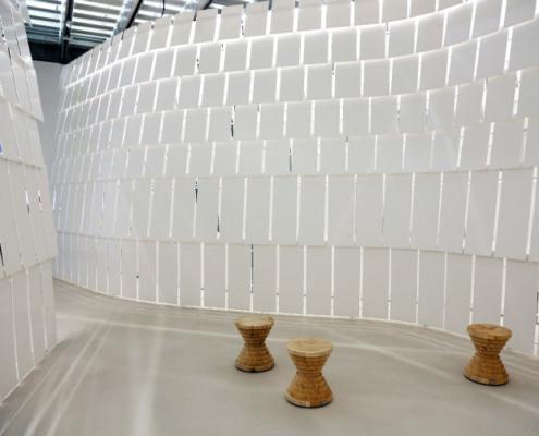 Proyecto de HI-MACS en el museo MAXXI de Roma