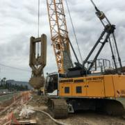 Grúas sobre cadenas HS Liebherr en la modernización dela red arterial ferroviaria de Murcia