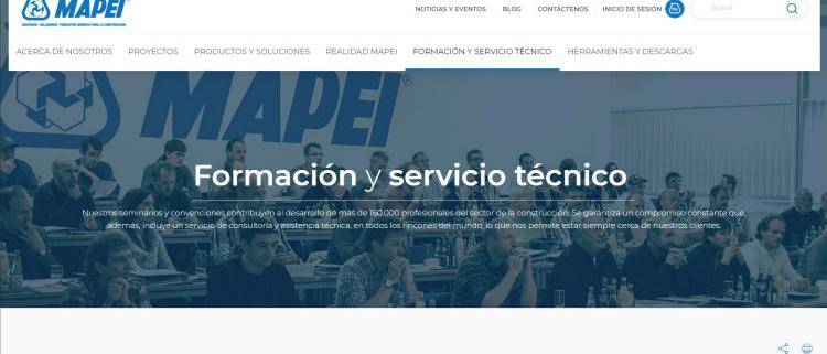 Ya está disponible la nueva web de Mapei