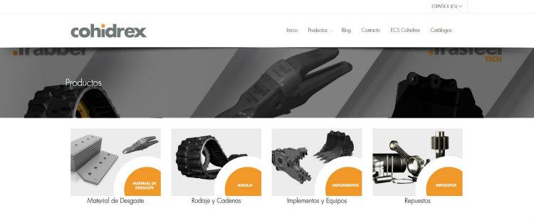 Cohidrex estrena web para los productos Trasteel Wear Parts