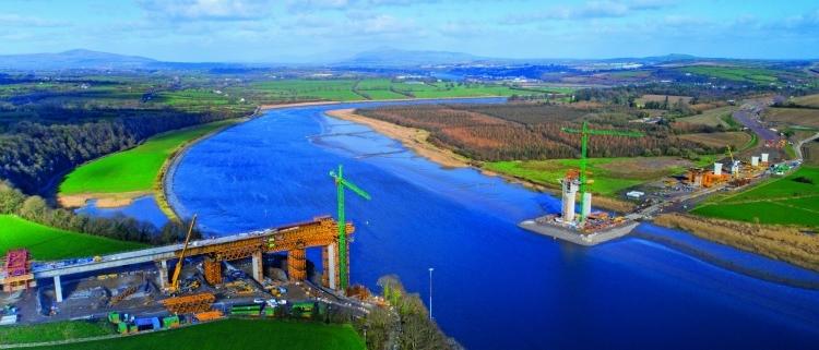 ULMA participa en el proyecto de construcción del puente extradosado más largo del mundo, New Ross