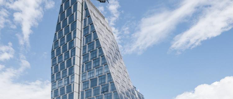 Fachada modular WICTEC EL SG de WICONA en el edificio 35XV de Manhattan
