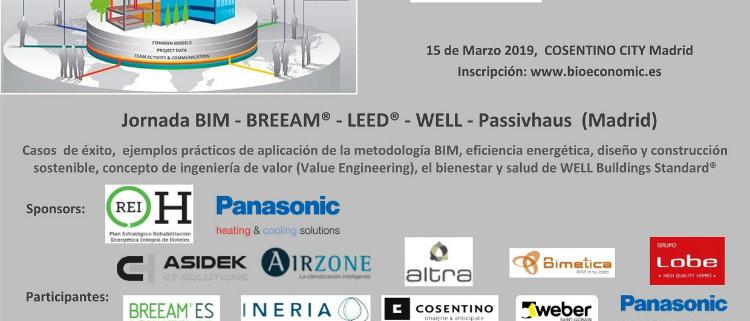 Jornada gratuita BIM - BREEAM - LEED - WELL - Passivhaus (Madrid)