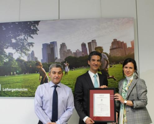 LafargeHolcim recibe el certificado de AENOR por su gestión de la Seguridad Vial