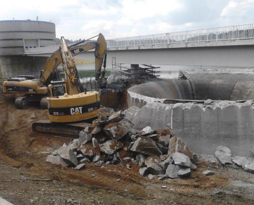 Demolición rápida con fresadoras hidráulicas