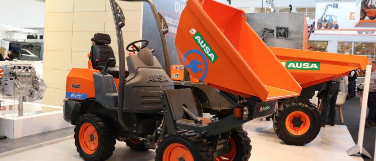 Nuevos dumpers y gama de carretillas de AUSA en Bauma 2019