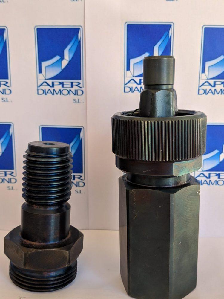 Adaptador universal POLYGON tool free PQ6 para brocas de perforación